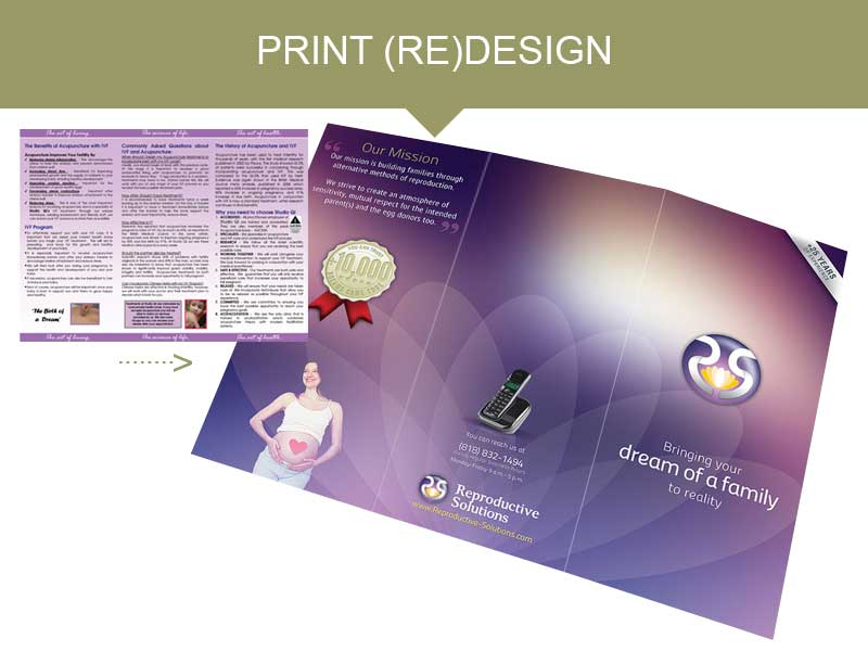 Print Design for Medical Institutions